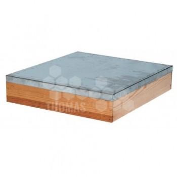 Warre toit plat bois tôlé